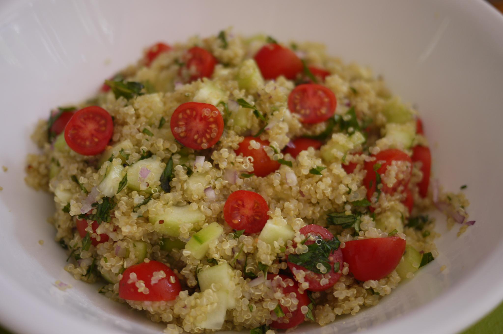 Tabule de quinoa the cute kitchen for Cocinar quinoa al vapor