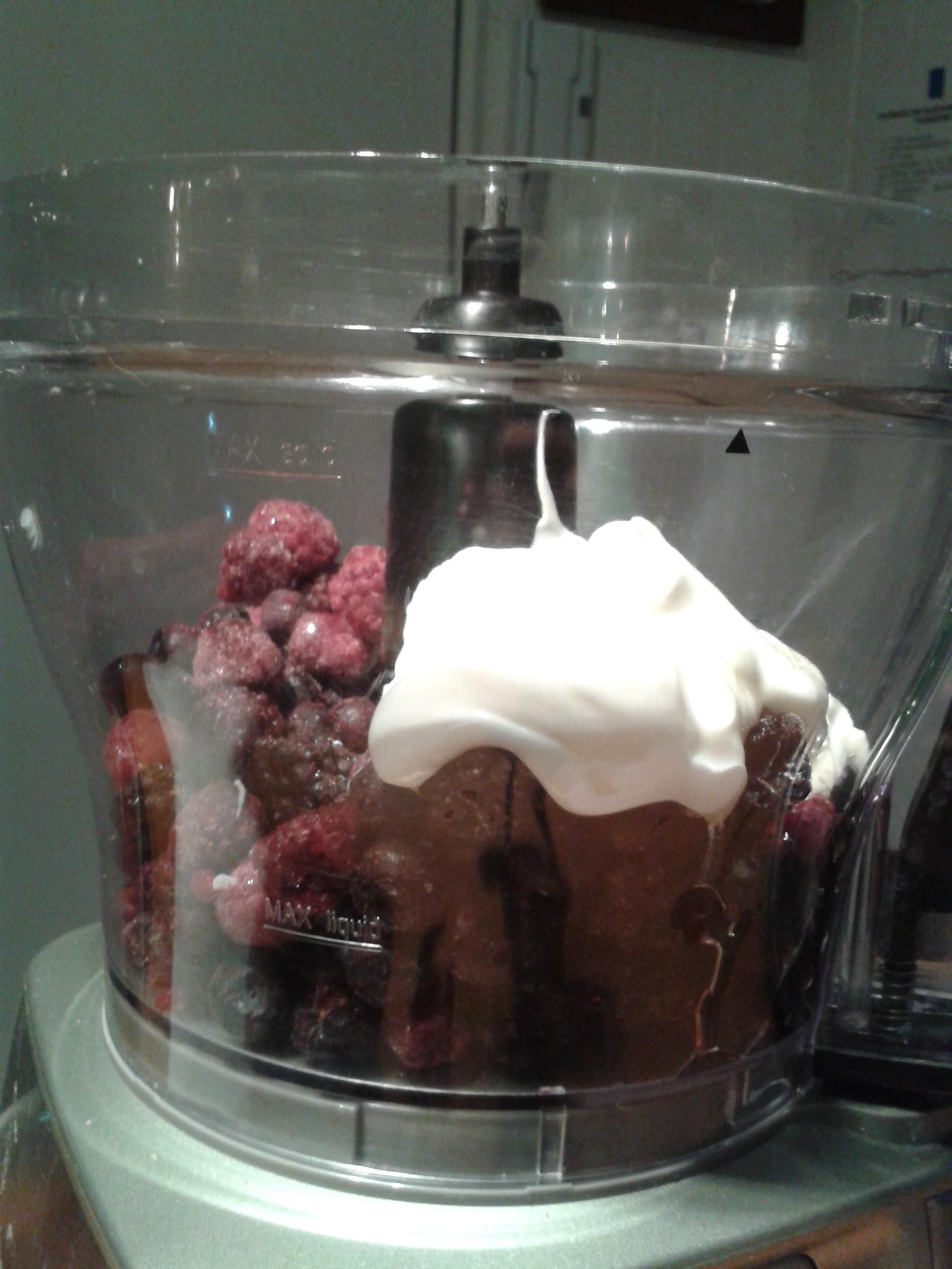 5 minute berries frozen yogurt the cute kitchen for Que es un procesador de alimentos