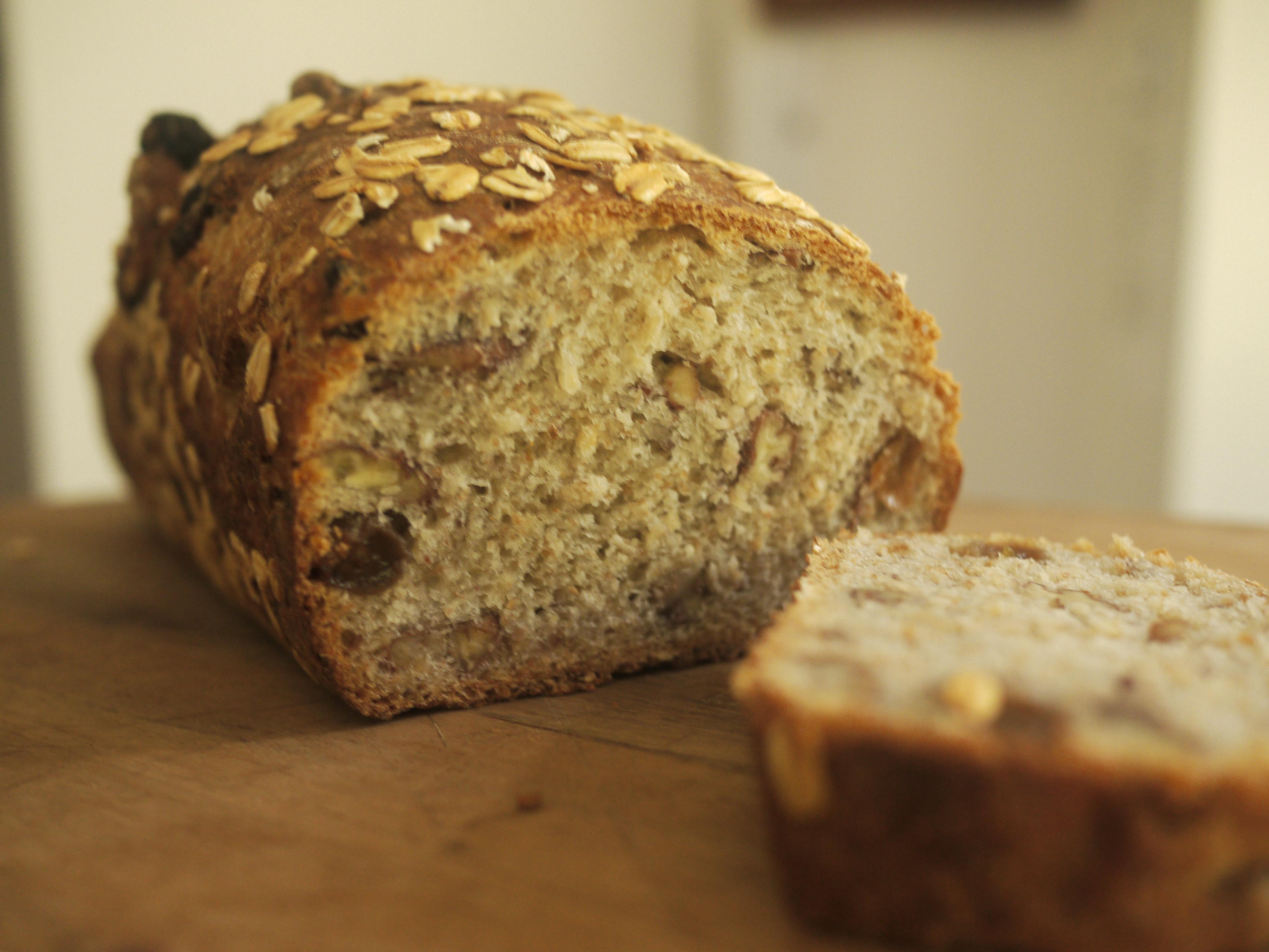 pan de avena y miel receta